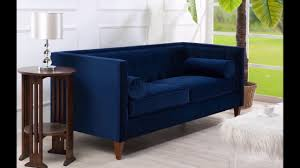 jennifer taylor jack tuxedo sofa couch navy blue for living room