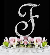 wedding cake jewelry swarovski wedding cake topper initial accent swarpvski