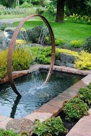 Small Backyard Water Feature Ideas Wine Barrel Hoop And Copper Pipe Water Feature I Would Use My Old