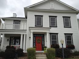 Red Door Home Decor Black Shutters Red Doors And White Houses On Pinterest With
