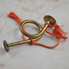 miniature brass horn ornament brass horn decor