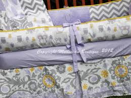 Lavender And Grey Crib Bedding Aboslutely This For A Custom Wisteria Lavender