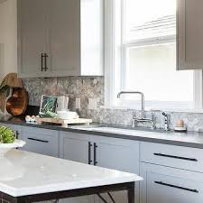 grey kitchen backsplash grey marble staggered kitchen backsplash design ideas