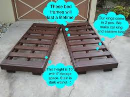 California King Platform Bed Frame Larson California King Platform Bed Living Spaces Frame Wood Cal