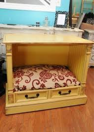 end table dog bed diy re purposed dog bed an old tv cabinet the best part is that the