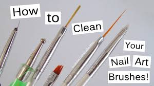 how to clean your nail art brushes youtube