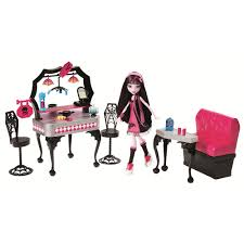 Monster High Doll House Furniture Monster High Die Ner Playset And Draculaura Doll Mattel Toys