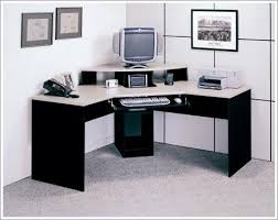 contemporary elements corner desk finished in black and alumic