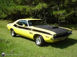 Dodge Challenger Yellow - 1970 dodge challenger t a id 6154