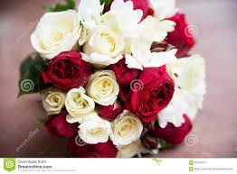 wedding flower bouquet with pink red and white roses stock photo