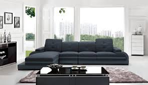 Modern Fabric Sectional Sofas Casa 5132 Modern Fabric Bonded Leather Sectional Sofa