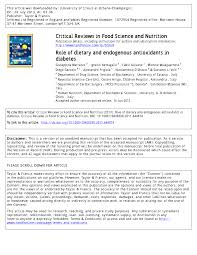 cr ence cuisine adh ive of dietary and endogenous antioxidants in diabetes pdf
