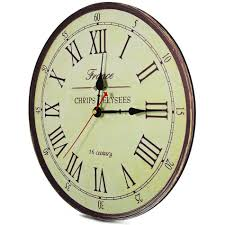 best quality large wall clock silent antique wooden round clock
