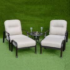 Kensington Bistro Chair Kensington Firepit Grill Reclining Bistro Set With Ottoman