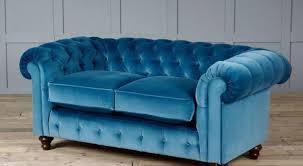 blue velvet chesterfield sofa archives interior elegant blue