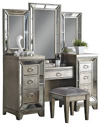 Mirrored Vanity With Drawers Willa Arlo Interiors Roxie Vanity With Mirror U0026 Reviews Wayfair