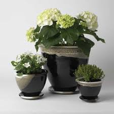 modern flower pots 2017 2 sizes black fashion modern tabletop