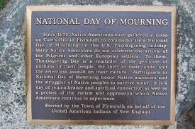 thanksgiving is national day of mourning for peoples in