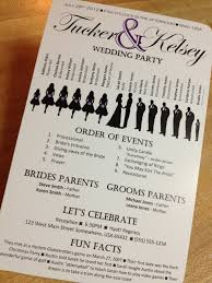 wedding program printable silhouette wedding program vertical layout stacked names