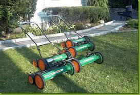 reel2reel push reel mower gang kit green mowing great workout