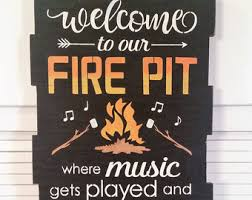 Firepit Signs Pit Sign Etsy