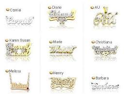 name plates jewelry golden nameplates jewelry nameplate necklaces monogram pendants