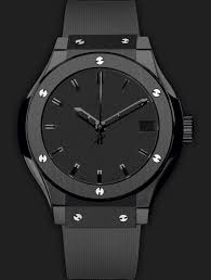 all black hublot classic fusion ultra thin 42mm u201cshiny dial u201d watches hands