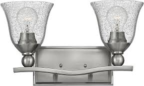 Transitional Vanity Lighting Hinkley 5892bn Cl Bolla Brushed Nickel 2 Light Bathroom Lighting