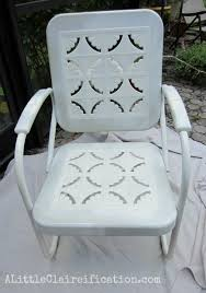 Retro Patio Furniture Metal Patio Furniture Makeover A Restoration Hardware Rescue A