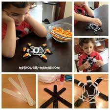halloween popsicle costume and craft stick spider web metrowest
