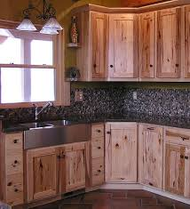 Hickory Kitchen Cabinets Kitchen Knotty Pine Cabinets Hickory Kitchen Rustic Paint Look