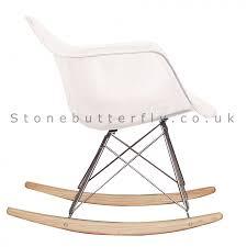 chaise rar eames charles ray eames style walnut rar rocking chair