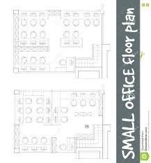 Architecture Floor Plan Symbols by Standard Office Furniture Symbols On Floor Plans Stock Vector