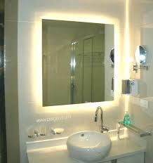 Bathroom Mirror With Clock Bathroom Mirror Led Lights Demister Vanity With Cabinets Mirrors