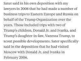 we deposed trump and felix sater about their relationship sater