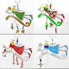 rancho trading company xm28 painted ornaments 4 pack