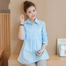 business casual blouses shop white light blue cotton maternity blouses for