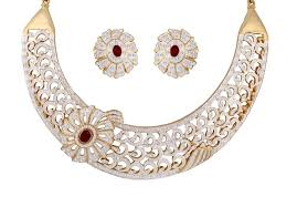 costume jewelry necklace sets images Buy sempre london red royal imperial design necklace with earrings jpg