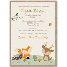 fancy woodland baby shower invitations 39 for with woodland baby
