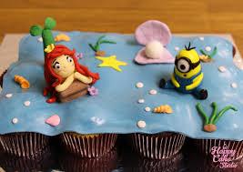 minion cupcake cake cupcake cake for a mermaid a minion lover happy cake studio