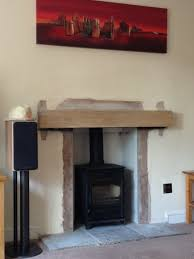 fitting log burner into fireplace home decorating interior