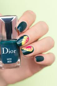 marble flower nail design ft dior now