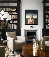 silver fireplace inserts with bookcase living room contemporary