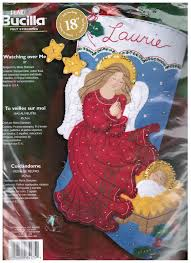 bucilla christmas stocking kit watching over me angel are you