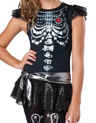 Maternity Halloween Costumes Skeleton by Skeleton Bling Teen Girls U0027 Teen Halloween Costume Walmart Com