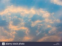 sky small clouds and sun rays morning light frame