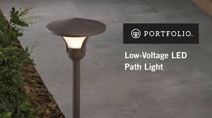 Portfolio Landscape Lighting How To Install A Low Voltage Landscape Path Light From Portfolio