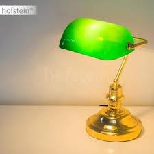 le de bureau banquier laiton verre vert le banquier achat vente pas cher