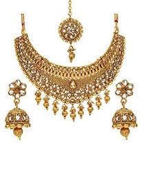 bridal indian necklace set images Bindhani bollywood style traditional ethnic jewelry jpg