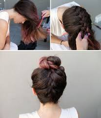 plait at back of head hairstyle 10 unconventional ways to style a braid brit co cabelo